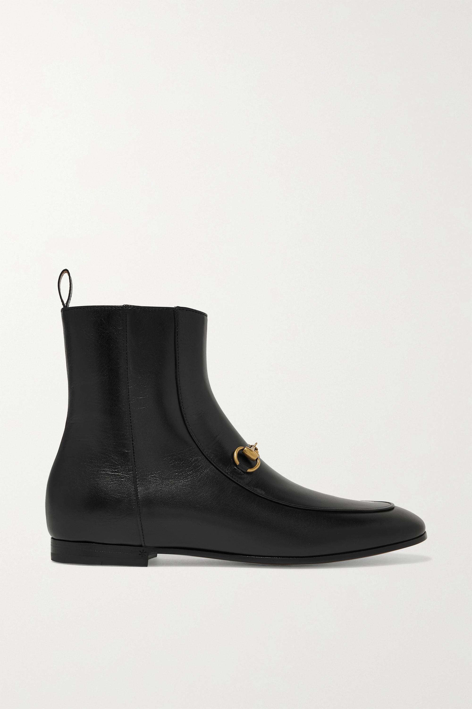 Black Jordaan horsebit-detailed leather