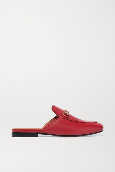 Gucci Shoes Princetown horsebit-detailed leather slippers