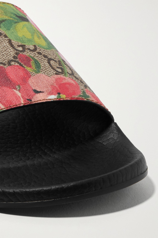 Gucci Logo-print coated-canvas slides