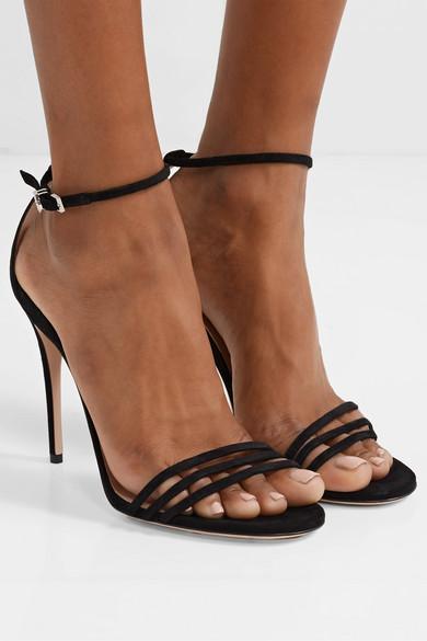 505a27dd3c66 Gucci. Ilse crystal-embellished suede sandals