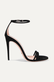 Gucci Ilse crystal-embellished suede sandals