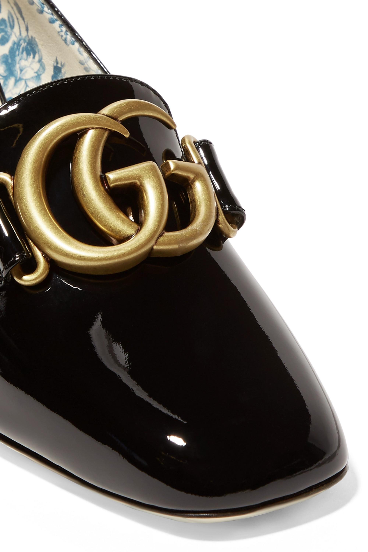 Gucci Logo-embellished patent-leather pumps