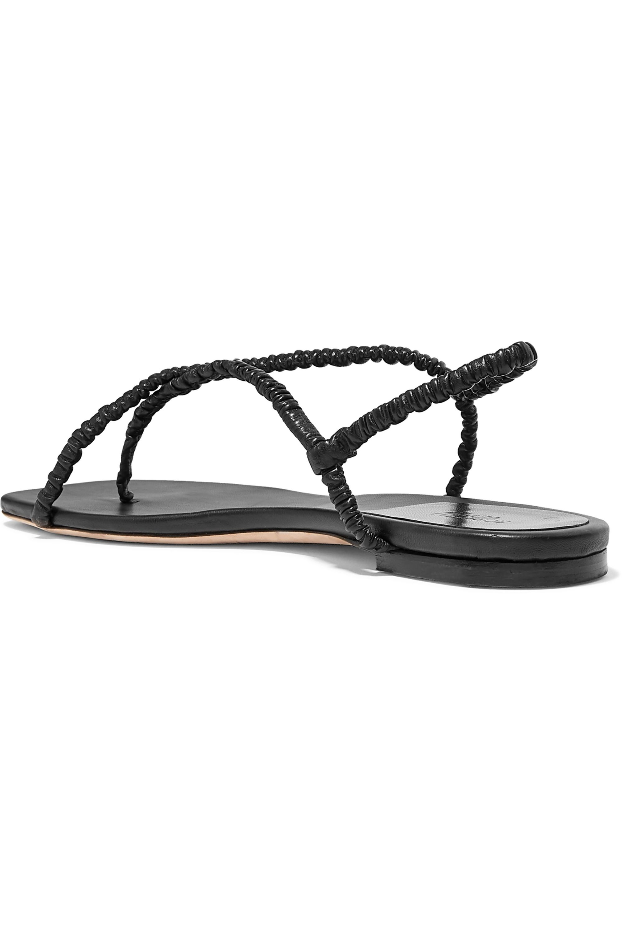 Rosetta Getty Leather slingback sandals