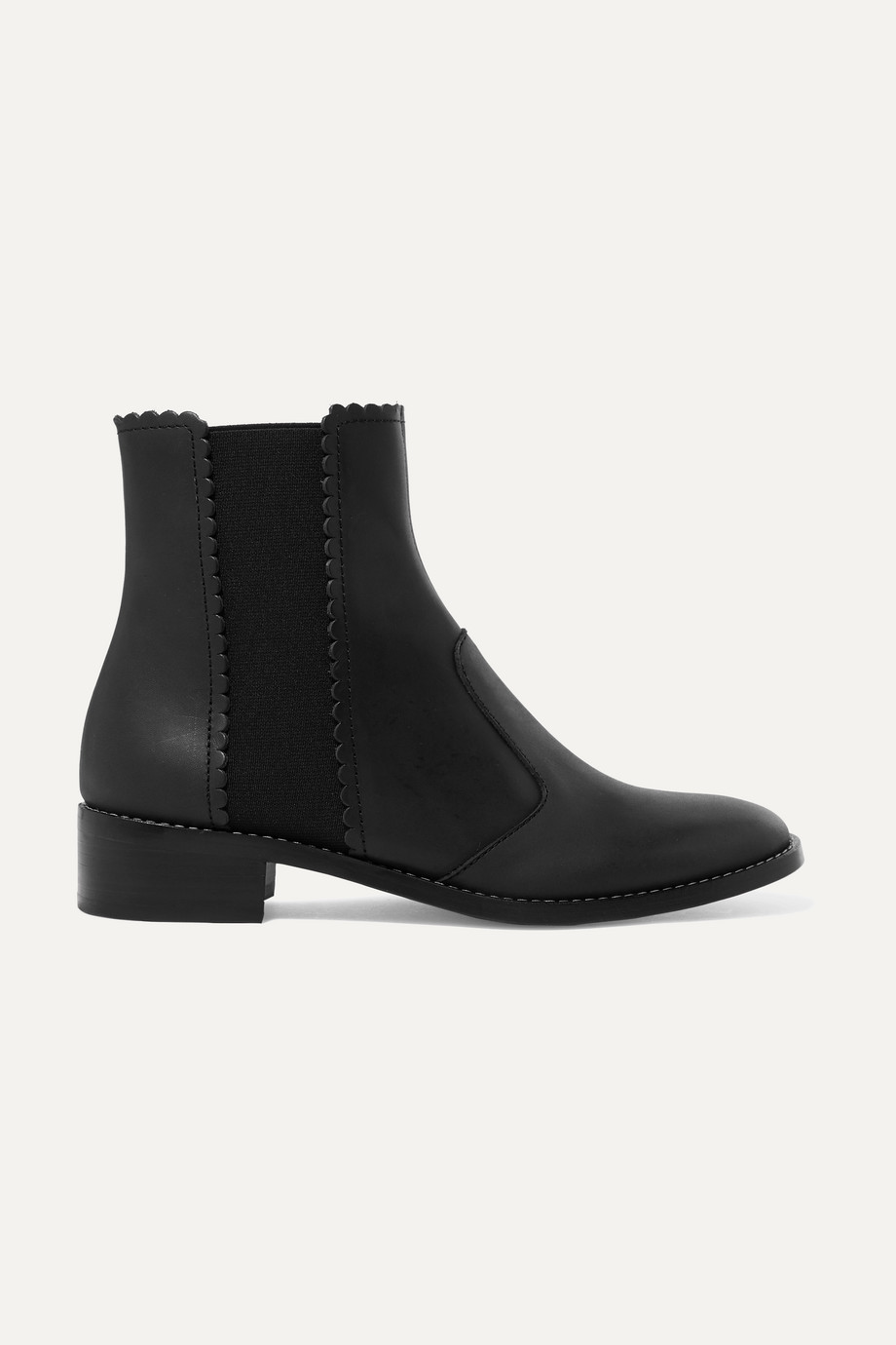 See By Chloé Scalloped leather Chelsea boots