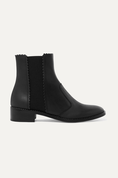 10f5ad0f2a Scalloped leather Chelsea boots