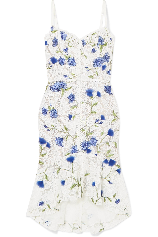 Embroidered appliquéd lace dress
