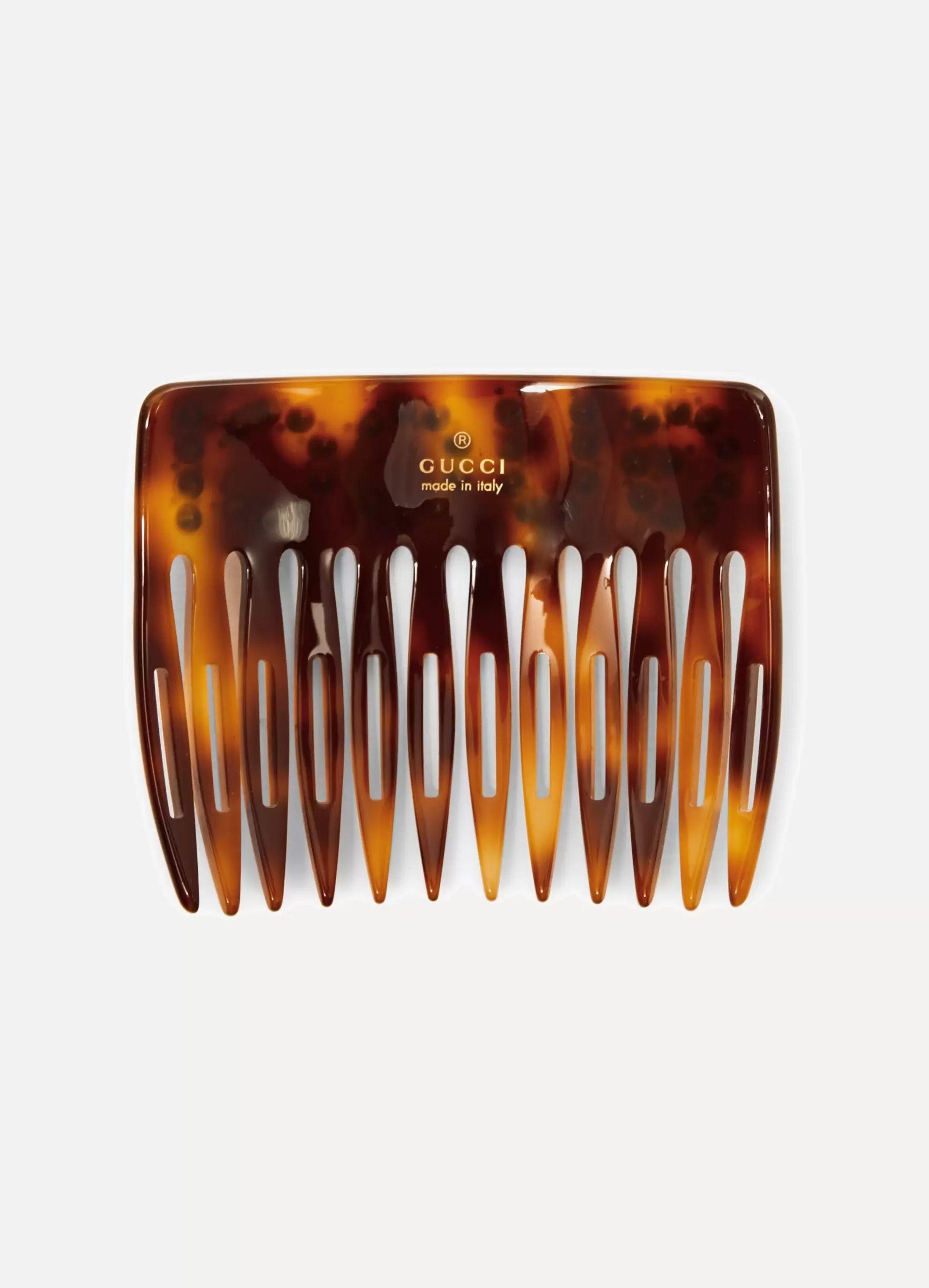 Gucci Crystal-embellished tortoiseshell resin hair slide