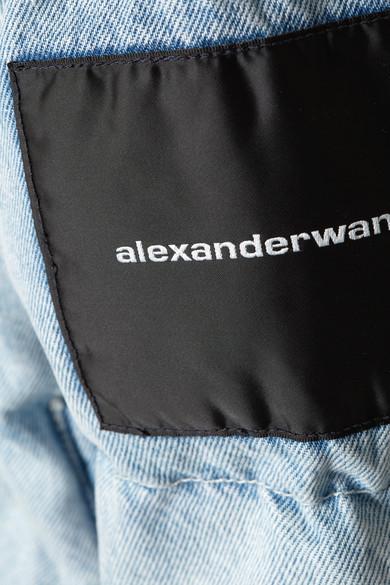 Alexander Wang Jackets Appliquéd quilted denim jacket