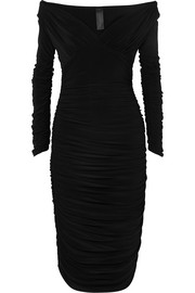 Norma Kamali Tara convertible ruched stretch-jersey dress