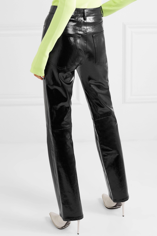Helmut Lang Patent-leather straight-leg pants