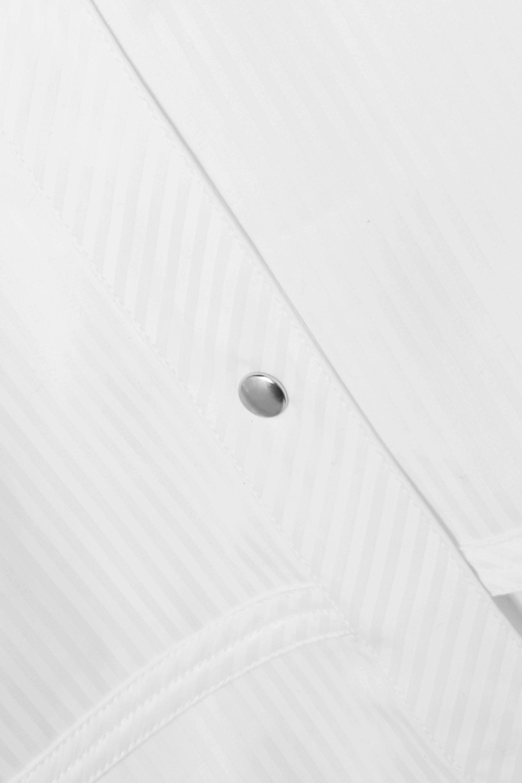 Helmut Lang 配腰带条纹纯棉府绸衬衫