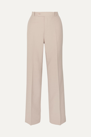 High-Rise Straight Pants in Cream