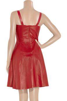 Adam|Leather dress|NET-A-PORTER.COM