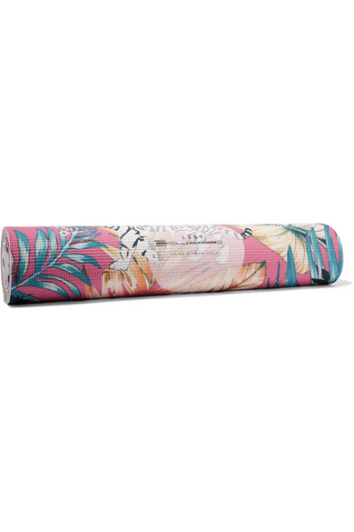 Tiger Lily Printed Yoga Mat in Fuchsia