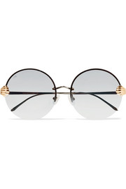 For Art's Sake Goddess round-frame stainless steel and gold-tone sunglasses