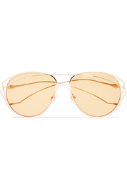 For Art's Sake Dark Eyes cat-eye gold-tone sunglasses