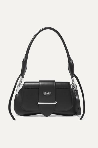 b2dc6e56d Prada Sidonie City Small Leather Shoulder Bag In Black