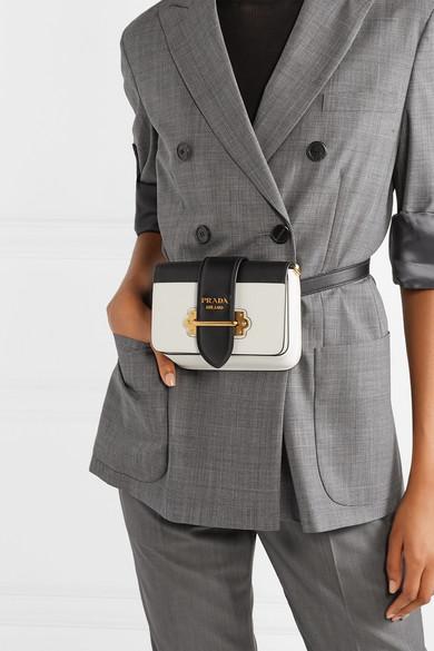 a4b2ad77 Prada | Cahier smooth and textured-leather belt bag | NET-A-PORTER.COM