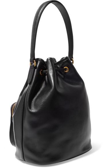 225d91d4c1abc5 Prada | Leather bucket bag | NET-A-PORTER.COM