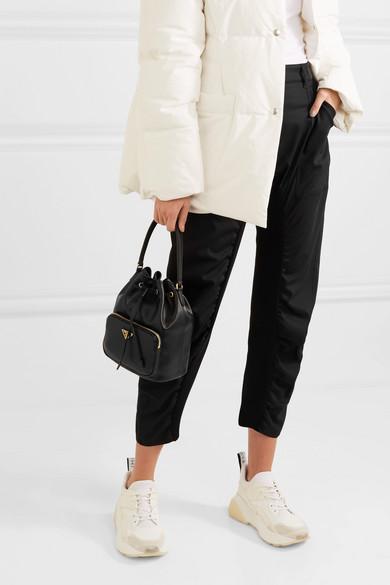 163cd6b42ede Prada | Leather bucket bag | NET-A-PORTER.COM