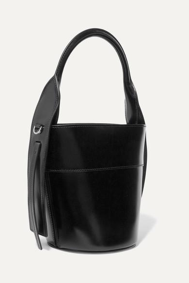 7166bace2b Prada | Overture embossed glossed-leather bucket bag | NET-A-PORTER.COM
