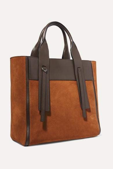 ec8650da78 Prada   Ouverture leather-trimmed suede tote   NET-A-PORTER.COM
