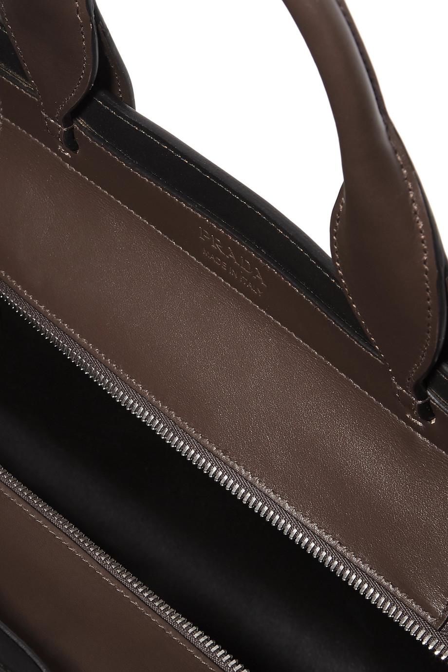 c85b9cd922 Prada Ouverture leather-trimmed suede tote