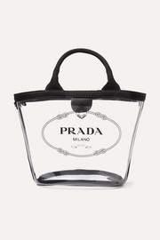 Prada Canvas-trimmed printed PVC tote