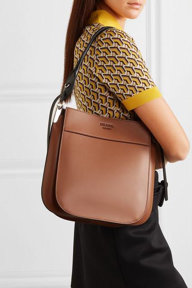 c8013218 Prada | Margit two-tone leather shoulder bag | NET-A-PORTER.COM