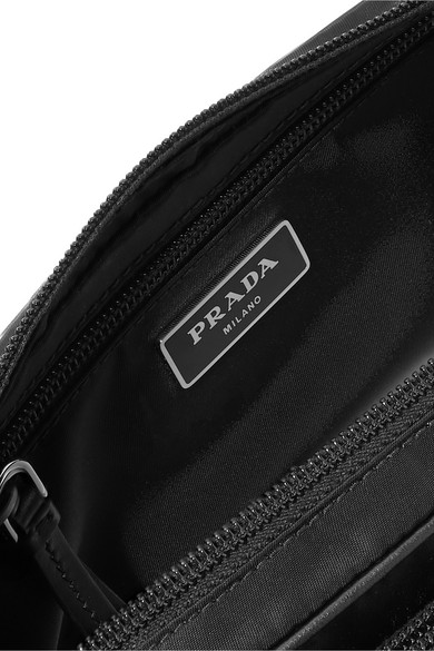 5d4c617b911a Prada | Vela studded leather-trimmed shell belt bag | NET-A-PORTER.COM