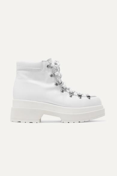e170908fffe21 MM6 Maison Margiela   Lace-up leather ankle boots   NET-A-PORTER.COM