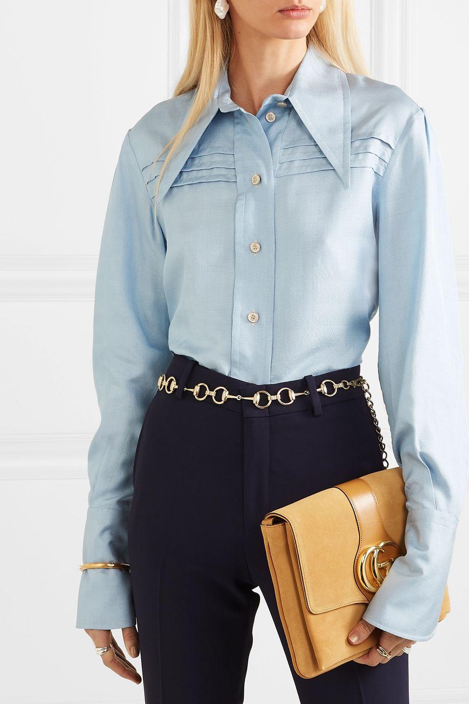 Gucci Horsebit gold-tone belt