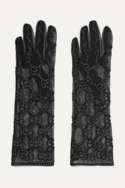 Embroidered tulle gloves
