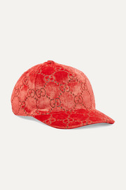 Baseballcap aus Samt-Jacquard in Metallic-Optik