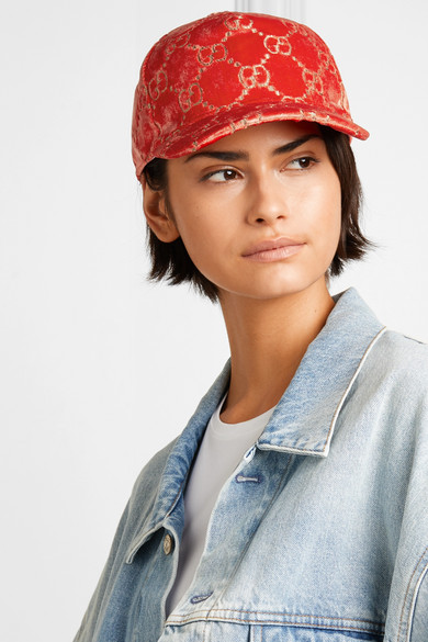 10bece5e9c0 Gucci. Metallic velvet-jacquard baseball cap