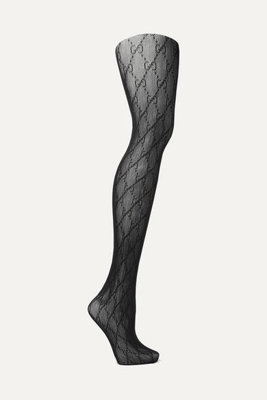 dc48ba5b435c7 Gucci   Intarsia fishnet tights   NET-A-PORTER.COM