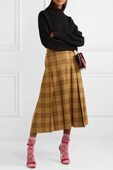 Gucci | Metallic cotton-blend jacquard socks | NET-A-PORTER COM