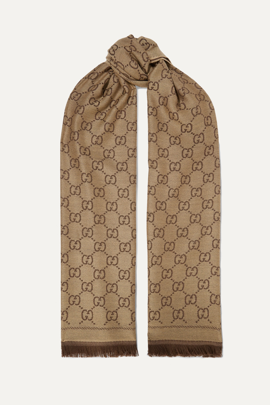 Gucci Sten reversible intarsia wool scarf