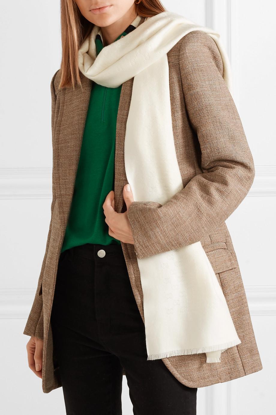 Gucci Cashmere jacquard scarf