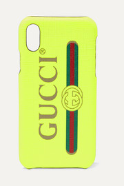 Gucci Printed textured iPhone X case