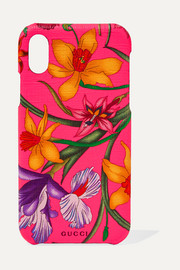 Floral-print textured iPhone 10 case