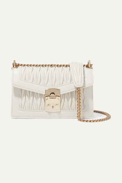 418c2c3e708 Miu Miu. Confidential matelassé leather shoulder bag