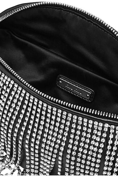 9a72cfd79a0 Miu Miu. London Night crystal-embellished matelassé leather belt bag.  £1