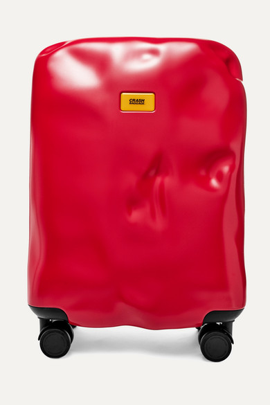 CRASH BAGGAGE Icon Carry-On Hardshell Suitcase in Red