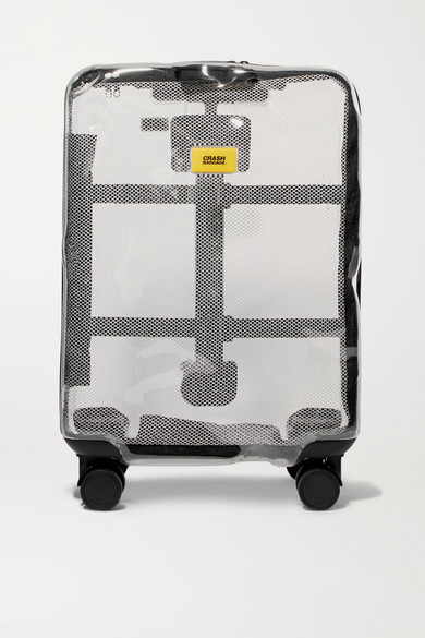 CRASH BAGGAGE Share Carry-On Hardshell Suitcase in Clear