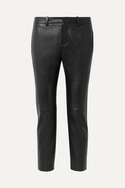 Tel Aviv cropped leather skinny pants