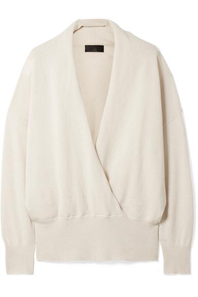 c8fc4a6a0a Nili Lotan. Lakota wrap-effect cashmere sweater