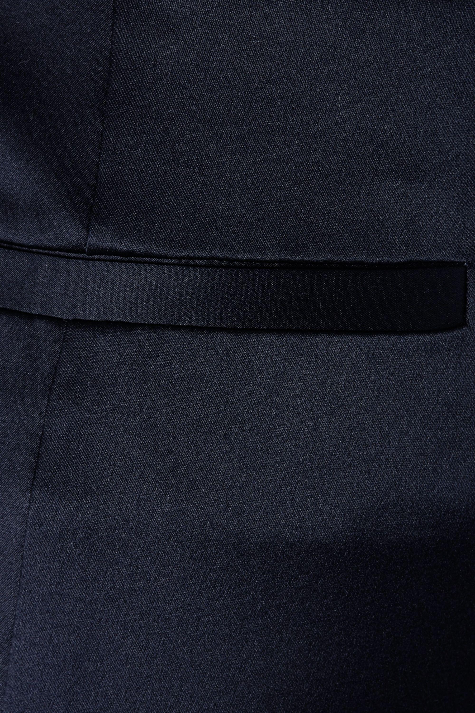 Nili Lotan Paris cropped silk-charmeuse skinny pants