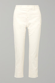 Montauk cropped stretch-cotton twill slim-leg pants