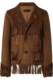 Frida fringed suede jacket